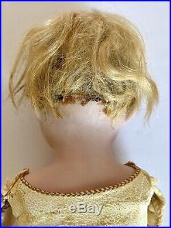Unidentified Antique German 8 Bisque Head Boy Doll Kid Leather Body