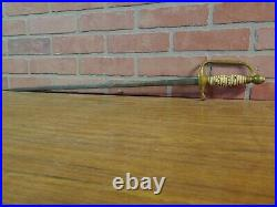 Unidentified German Antique Vintage Sword, Dagger, Old