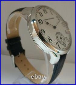 Union Horlogere Antique 1910's Wristwatch Steel Case, Exhibition Back