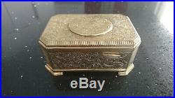 VINTAGE GERMAN Karl Griesbaum SINGING BIRD BOX MUSIC BOX AUTOMATON Gold plated