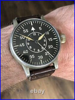 VINTAGE WW2 A Lange & Sohne German Military Observers Watch. B-UHR Cal 48.1