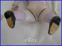 VTG Antique 7 Bisque German Kestner Doll Marked 130 Sleep Eyes Painted Shoes