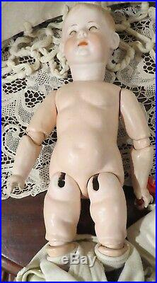 Very Rare Antique 16 German Bisque Art Character Fany, by Armand Marseille
