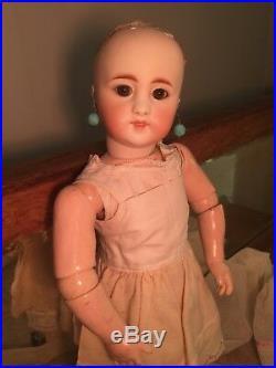 Very Rare Antique Simon Halbig 908 Bisque Doll Closed Mouth Original Body 14