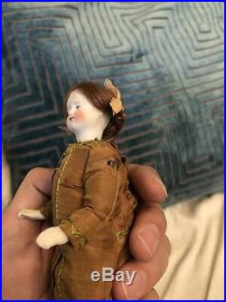 Very Unusual Mignonette Size White Bisque Or Parian 6 Antique German Doll