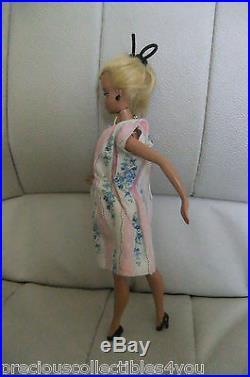 Vf Very Fine Original German Vintage Bild LILLI Hausser Barbie 7.5 Stripe Dress