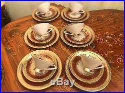 Vintage 6 cups 6 Saucer 6 Cake Plate 24k Gold German Bavaria Coffee Set