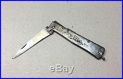 Vintage Antique German Mercator K55K Folding Knife Dagger Solingen Engraved Rare