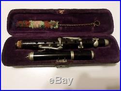 Vintage Antique German Piccolo circa 1900s-1920s good condition withoriginal case