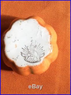 Vintage Antique Halloween Pumpkin Jack O Lantern Wastebowl Childs Tea Set German