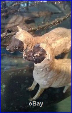 Vintage Antique Putz Wood German Animal Folk Art Carousel Nativity Animals Circa