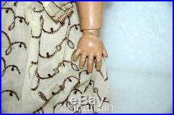 Vintage Antique Simon Halbig 21 Bisque Ceramic & Composite Doll & Clothes