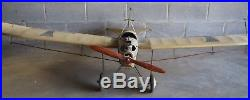 Vintage Antique WWI German Etrich Taube Monoplane Huge 79 Wingspan Model Plane