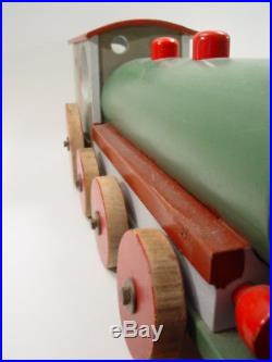 Vintage BAUHAUS xx large wood toy LOCOMOTIVE railroad train 27lbs antique German