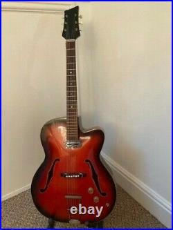 Vintage East German jazz archtop guitar