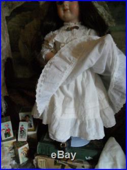 Vintage Etienne Denamur Artist Doll with little antique German bebe