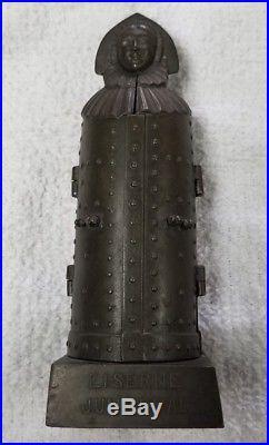 Vintage German Antique Iron Maiden Figure Torture Device Nuremberg(5 3/4'' tall)