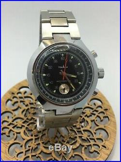 Vintage German Ruhla Chronograph Wrist Watch 1970's RARE