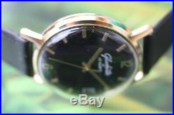Vintage Gold-plated German Mech. Glashutte 17 Jewels Original With Date