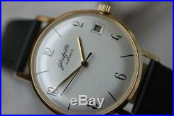 Vintage Gold-plated German Mech. Glashutte 17 Jewels With Date