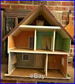 Vintage Handmade Swiss German Chalet Dollhouse
