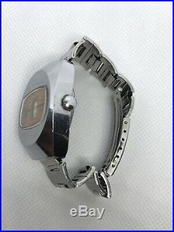 Vintage Old German GDR Made Umf Ruhla Digital Mens Wrist Watch Jump Mans Rare