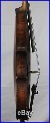 Vintage Old antique 4/4 German Violin Mittenwald One Piece Back