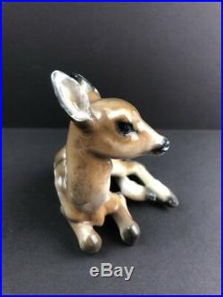 Vintage Rosenthal Deer Figurine Fritz Heidenreich German Porcelain Fawn