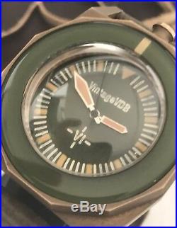 Vintage VDB VI Bronze Diver Handmade Custom 1/1 Automatic Green Dial German Made