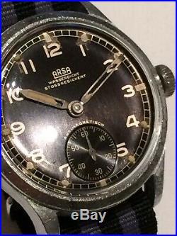 Vintage WW2 Era ARSA German Issued Military Mens Watch D 29183 H