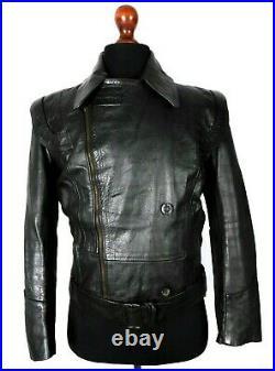 Vintage WW2 German Leather Luftwaffe Jacket 38 Small