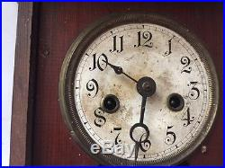 Vintage antique German Wall Clock from 19century