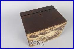 Vintage inlaid wood cigar box, german antique 1880`s