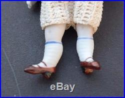 Vtg 1900's ANTIQUE MINI 4 KESTNER BISQUE Doll Painted Socks 130/072 & Acc