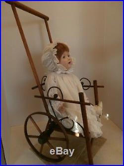 Vtg Antique All Bisque HILDA Doll 18 Missing Leg /Repair/PartsGermany Gesgesch