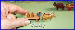 Vtg Antique Erzgebirge Wooden Miniatures Small German Village from Germany