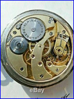 WW2 German Silver Alpina Pocket Watch