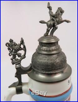 WW2 vintage antique beer mug ceramic stein WWI Imperial German 1937 unit marked
