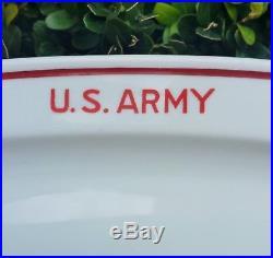 WWII US ARMY plate vtg Alt Schonwald german porcelain china antique military art