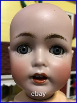 Wonderful Antique 17 JDK Kestner 257 German Bisque Blue Eyed Toddler Boy Doll