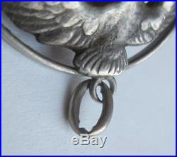 Ww2 Vintage Antique German Silver Luftwaffe Eagle Military Pendant Fob Keepsake