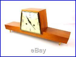 ZENTRA chiming antique german mantel clock art deco Bauhaus mid century vintage